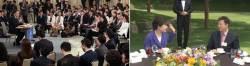 [文 취임 100일 기자회견] <!HS>박근혜<!HE> 전 대통령과 비교해보니