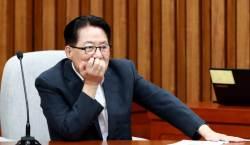 """'<!HS>박근혜<!HE> 명예훼손' 박지원측 """"朴 선고 이후 재판해달라"""""""