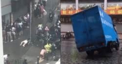 사람도 날려 보내는 홍콩 <!HS>태풍<!HE> '하토'의 위력…영상 보니 '아찔'