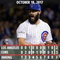 시카고 컵스, 3연패 뒤 다저스에 첫 승