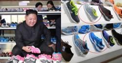 김정은이 자랑한 신발 공장에 '짝퉁'이?