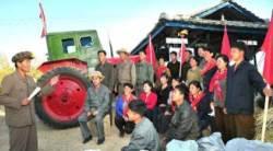 [북한TV속의 삶 이야기] 북한, 가을걷이·탈곡 현장에서 즉시 분배