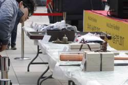 [대구<!HS>위아자<!HE>] 물방울 작가 그림 102만원·이승엽 야구배트 70만원 …치열했던 경매현장