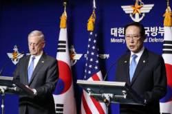 """매티스 """"북한은 한ㆍ미동맹에 적수가 되지 못해"""" 경고"""