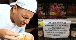 외국 마트에서 불닭볶음면에 붙은 무시무시한 '경고문'