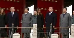 트럼프와 눈 마주치자 주머니에서 손 뺀 <!HS>시진핑<!HE>