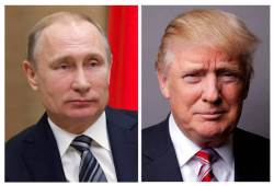 """트럼프 """"美정보당국은 거짓말쟁이, <!HS>푸틴<!HE> 믿는다"""""""