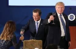"""<!HS>트럼프<!HE> '평창올림픽에 가족 보내겠다'약속"""