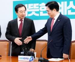 김성태 원내대표 첫날 … 5·18법, <!HS>최경환<!HE> 체포안 처리 무산