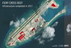 중국, 남중국해에 지하터널 등 군사시설 계속 지어와