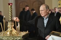 [<!HS>서소문사진관<!HE>]뜻밖의 성탄절 선물(?) 받은 푸틴 대통령