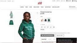 """H&M, 흑인아동에 """"가장 멋진 원숭이"""" 셔츠…인종차별 광고 논란"""