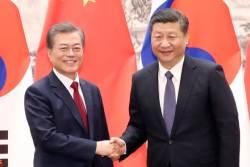 문 대통령, <!HS>시진핑<!HE> 주석과 통화...비핵화 공조 강화키로