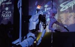 [사진으로 보는 CES 2018]  클럽에 전시된 스트리퍼 로봇의 에로틱한 춤