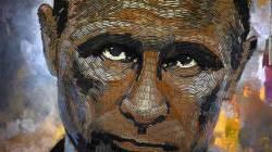 뉴욕 한 전시회서 '총알 탄피'로 묘사된 <!HS>푸틴<!HE> 러시아 대통령