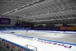 파랑 하키, 보라 빙상, 빨강 썰매 … 색 단장하는 평창 경기장