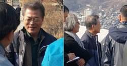 <!HS>문재인<!HE> 대통령 인왕산 등산…탄핵 1년 '정국구상'