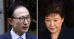 '22개 vs 18개 혐의' 법 앞에 선 박근혜ㆍ<!HS>이명박<!HE> 비교해보니