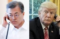 """文 대통령ㆍ트럼프 통화 """"과거의 실패, 철저히 대비하겠다 """""""