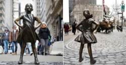 뉴욕 황소상 앞에 맞선 '겁 없는 소녀' 올해까지만 관람 가능