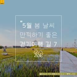 [<!HS>카드뉴스<!HE>] 5월 봄 날씨 만끽하기 좋은 걷기여행 길