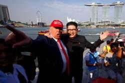 [<!HS>서소문사진관<!HE>] 김정은<!HS>,<!HE> 트럼프가 벌써 싱가포르에?