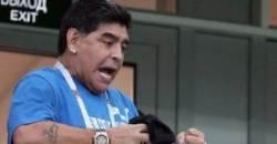 '인종차별 논란' 마라도나, 아르헨티나 완패하자 관람석서 눈물