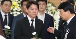 "JP 빈소 찾은 안철수 ""항상 말씀하던 화합ㆍ통합 가슴 새길 것"""