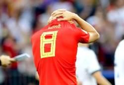 [서소문사진관]16강서 탈락, 스페인의 패인은 개최국 징크스?