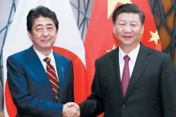 <!HS>아베<!HE> 총리, 총재선 직후 10월 방중 검토...7년만의 단독 방중