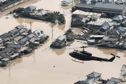 日 폭우 사망자 110명 넘어,<!HS>아베<!HE> 총리 유럽과 중동 방문 취소