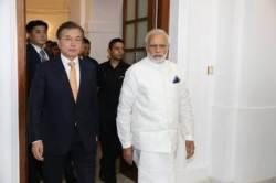 모디 인도 총리, 문재인 대통령 국빈방문에 한글로 감사 트윗