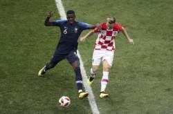 [월드컵 결승]크로아티아 자책골...전반 18분, 프랑스 1-0