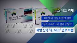 [뉴스체크|경제] 폐암 신약 '타그리소' 건보 적용