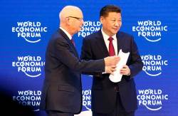 "[<!HS>J<!HE> <!HS>Report<!HE>] 시진핑 ""중국 시장 열려있다"" 다보스서 세계화 첨병 선언"