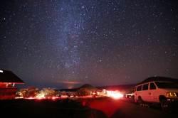 밝디밝은 별빛, 붉디붉은 용암 … 눈부신 하와이의 밤