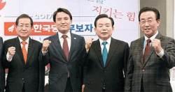 홍준표ㆍ김진태...'보수단일화' 극명한 입장차