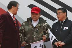 """태극기집회는 <!HS>새누리당<!HE> 대선 출정식? """"5월 9일은 법치주의·민주주의 구하는 날"""""""