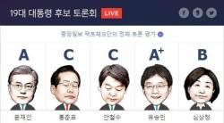 [대선 3차 TV토론] 유승민 공격, <!HS>문재인<!HE>은 방어 높은 점수