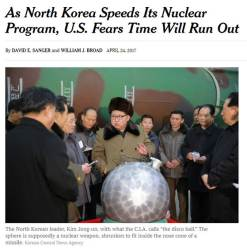 "NYT ""<!HS>트럼프<!HE> 정부, 북한이 6~7주에 핵무기 한 개씩 만들 수 있다고 분석"""
