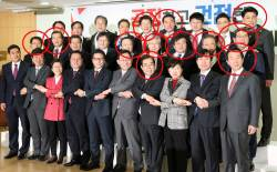 [포토사오정]지난해 <!HS>새누리당<!HE> 탈당기자회견 사진이 바른정당 탈당 예견했나?