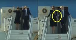 로마에서 또다시 트럼프 손 뿌리친 멜라니아