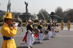 청와대 분수대 광장 군악·의장 행사 재개