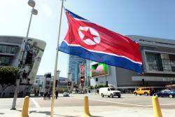 한 영국인이 집 마당에 북한 인공기 내건 황당한 이유