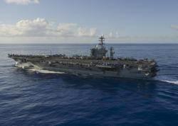 미 해군의 핵 추진 항모 니미츠함(CVN 68), 서태평양 진입