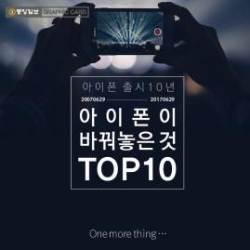 [카드뉴스]  '아이폰 출시 10년'… 아이폰이 바꿔놓은 것 10가지