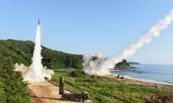 [서소문사진관]미사일 도발에 실시한 北 지도부 타격용 한ㆍ미 미사일 사격훈련 현장