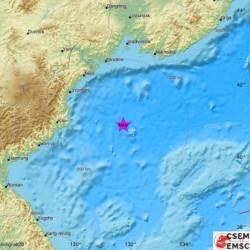 北 동해상에서 규모 6.3 <!HS>지진<!HE> 발생