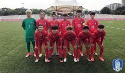 한국 여자축구 유니버시아드팀, 조별리그 첫 승