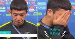 """""""제 판단 미스로…"""" 페널티킥 허용한 김민우 울음 터져"""